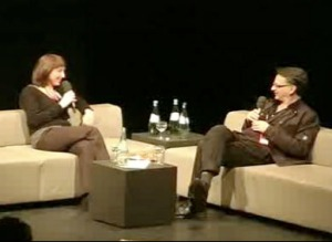 Nicola Triscott and Andy Cameron in Transmediale's Long Conversation