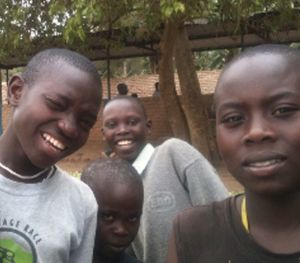 Smiling Rwandan boys