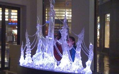Illuminated translucent sculpture