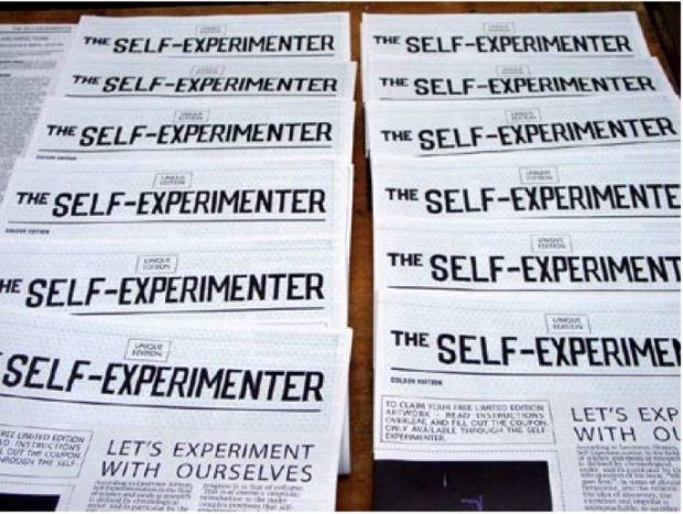 A series of newspapers, each titled 'The Self-Experimenter'