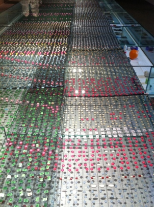 A table with thousands of pills