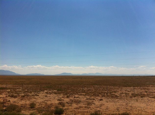 View out over a desert landscapes
