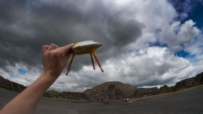 We Colonised the Moon, photograph taken at the Teotihuacan Pyramids for Kosmica Mexico 2012