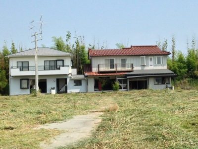 Damaged rural houses