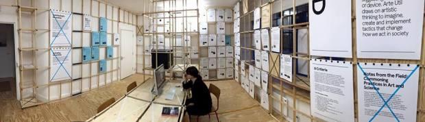 Arte Util Archive, Arts Catalyst Centre installation. Photo: Alec Steadman