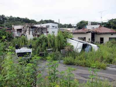 View of the Fukushima exclusion zone Courtesy of Don't Follow the Wind